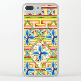 Elizabethan Rainbow Blossoms Clear iPhone Case