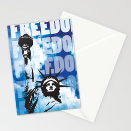 Freedom - Blue Stationery Cards
