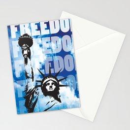Freedom - Blue Stationery Cards
