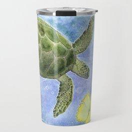 The Sea Turtle and Sea Nymph Travel Mug