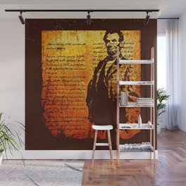 Abraham Lincoln and the Gettysburg Address 2 Wall Mural
