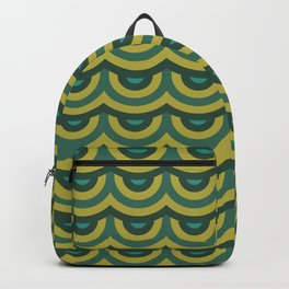 Retro Scales - Green Yellow Palette Backpack