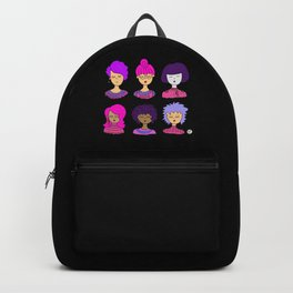 cute face pink hair Backpack