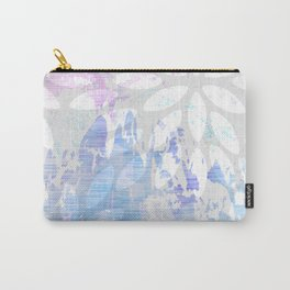Abstract Splash Flowers Design Carry-All Pouch