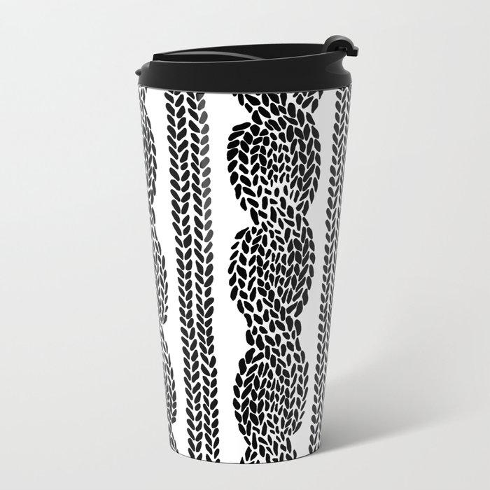 Cable Row Metal Travel Mug