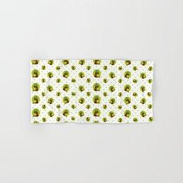 """Green Lemon Pattern Succulents Polka Dots"" Hand & Bath Towel"