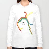 san francisco Long Sleeve T-shirts featuring San Francisco by Abstract Graph Designs