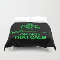 keep calm Duvet Covers featuring Keep Calm by Alice Gosling