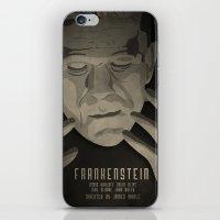 frankenstein iPhone & iPod Skins featuring Frankenstein by James Northcote