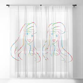 Ariel | Pop Art Sheer Curtain