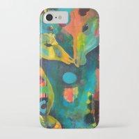 giraffes iPhone & iPod Cases featuring Giraffes by Silke Powers