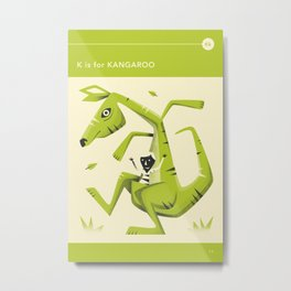 K is for KANGAROO Metal Print
