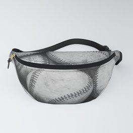 Baseballs Black & White Graphic Illustration Design Fanny Pack