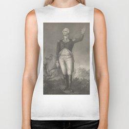 Vintage George Washington Portrait (1854) Biker Tank