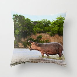 The Call (Of The Wild) Throw Pillow