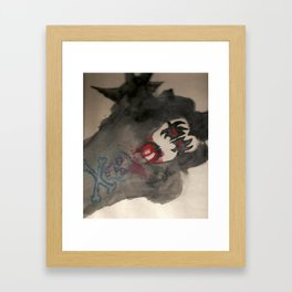 the demon Framed Art Print