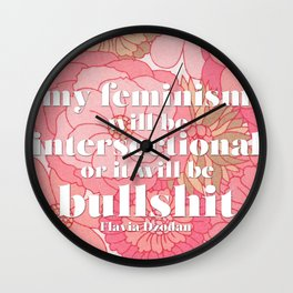 Intersectional Feminism Wall Clock