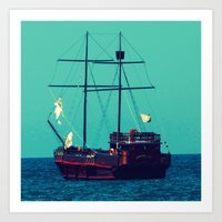 pirates Art Prints featuring Pirates by Endless Summer