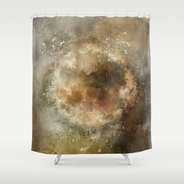Moon Implosion Shower Curtain