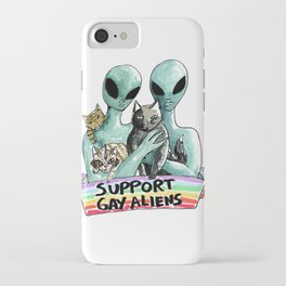 support gay aliens iPhone Case