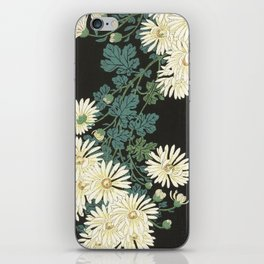 Chrysanthemums and Running Water iPhone Skin