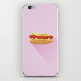 Flat Vector Chicago Dog iPhone Skin