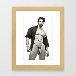 Open Shirt (001) Framed Art Print