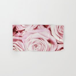 Beautiful bed of pink roses- Floral Rose Flowers Hand & Bath Towel