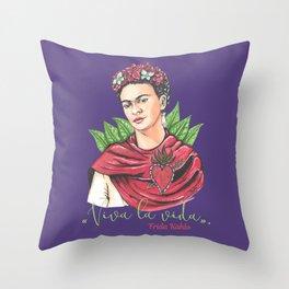 Frida Viva la vida Throw Pillow