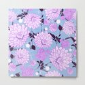 Soft calming lilac spring florals design by wanderingwattle