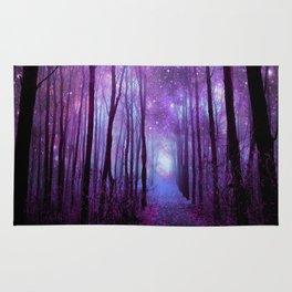 Fantasy Forest Path Purple Pink Rug