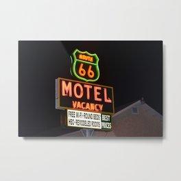 Route 66 Motel Metal Print