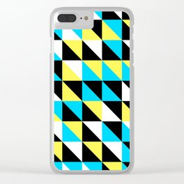 Triangular Mess Clear iPhone Case