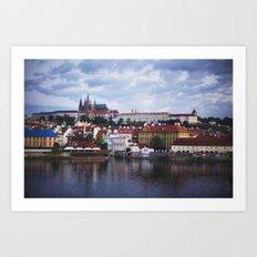 Sunrise Over the Prague Castle Art Print