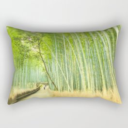 Bamboo Forest Drenched in the Sun Rectangular Pillow