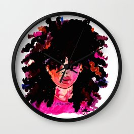 BABY HAIR AND AFROS Wall Clock