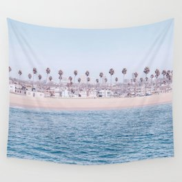 Vintage Newport Beach Print {3 of 4} | Photography Ocean Palm Trees Cool Blue Tropical Summer Sky Wall Tapestry