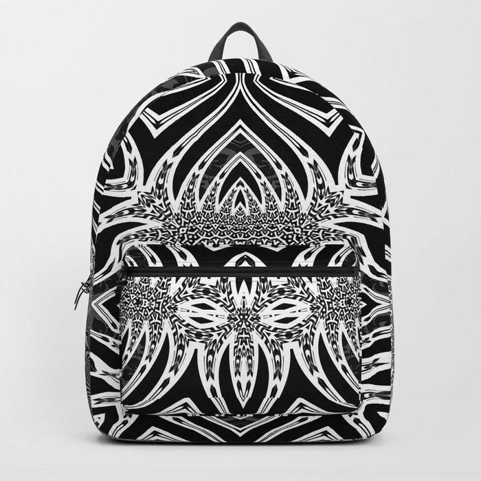 Black & White Tribal Symmetry Backpack