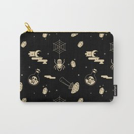 Halloween pattern in black bg Carry-All Pouch