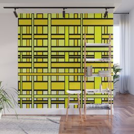 Yellow grid Wall Mural