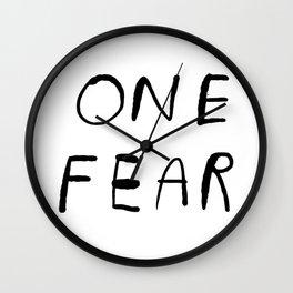 One Fear Wall Clock