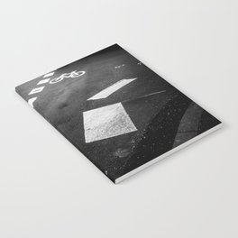 Black and white - Pedestrian crossing Notebook