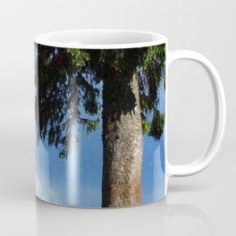 white horse in beautiful mountain view Coffee Mug