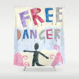 Freely Dancing Shower Curtain