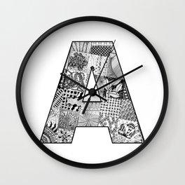 Cutout Letter A Wall Clock