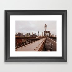 Brooklyn Bridge 02 Framed Art Print