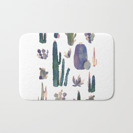 Watercolor Catus Bath Mat