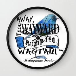 Rump-fed Wagtail Wall Clock