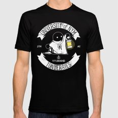 THE UNIVERSITY OF NYM | Tonberries Mens Fitted Tee Black LARGE