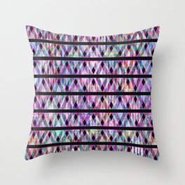 Geometric Glossy Pattern G330 Throw Pillow